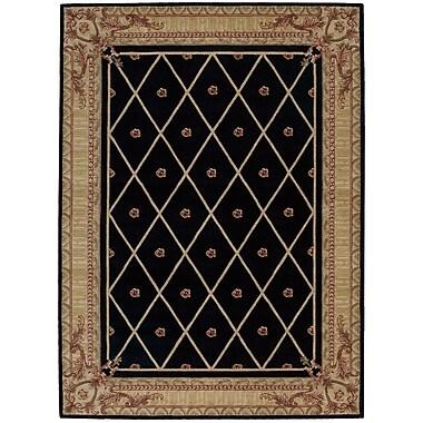 Astoria Grand Payzley Black Area Rug; Rectangle 5'6'' x 7'5''