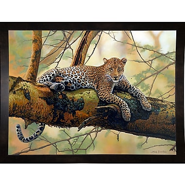 Bloomsbury Market 'African Leopard' Graphic Art Print; Black Wood Medium Framed Paper