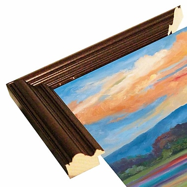 Charlton Home 'Morning Light' Graphic Art Print; Cherry Wood Grande Framed Paper