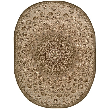 Bloomsbury Market Dunbury Hand Woven Wool Brown/Cream Indoor Area Rug; Oval 7'6'' x 9'6''