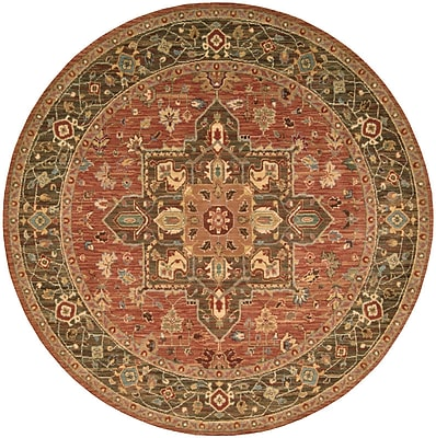 Darby Home Co Crownover Rust Area Rug; Round 5'10''
