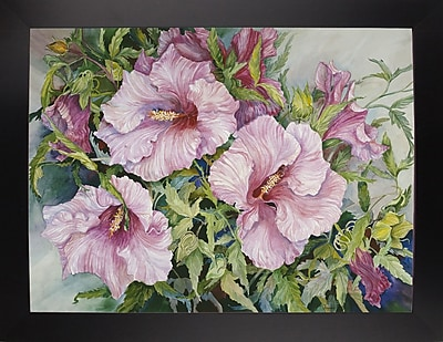 Winston Porter 'Pink Hibiscus' Print; Rolled Canvas
