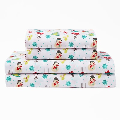 The Holiday Aisle Xmas Polyester Sheet Set; Queen