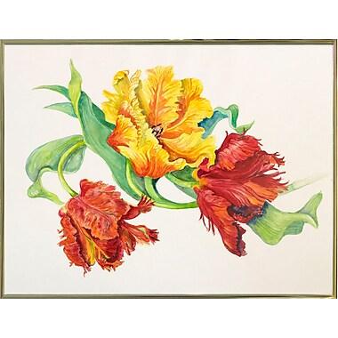 Winston Porter 'Twining Tulips' Print; Gold Metal Framed