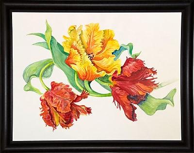 Winston Porter 'Twining Tulips' Print; Bistro Expresso Framed Paper