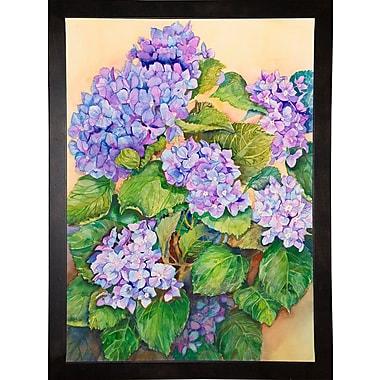 Winston Porter 'Easter Hydrangea' Print; Cafe Espresso Wood Framed Paper