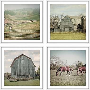 Gracie Oaks 'Out w/ the Horses' 4 Piece Framed Photographic Print Set; 48'' H x 48'' W