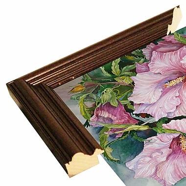 Winston Porter 'Pink Hibiscus' Print; Cherry Wood Grande Framed Paper