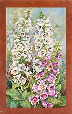 Winston Porter 'Foxglove Spears' Print; Canadian Walnut Wood Medium Framed Paper