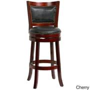Mintra Bristol 44'' Swivel Bar Stool; Cherry/Black