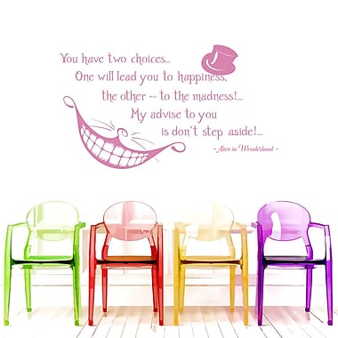 Decal House Alice Quote Wall Decal; Soft Pink