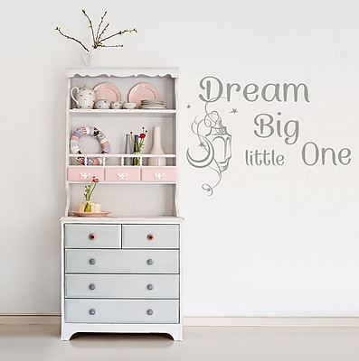 Decal House Dream Big Little One Wall Decal; Silver Metallic