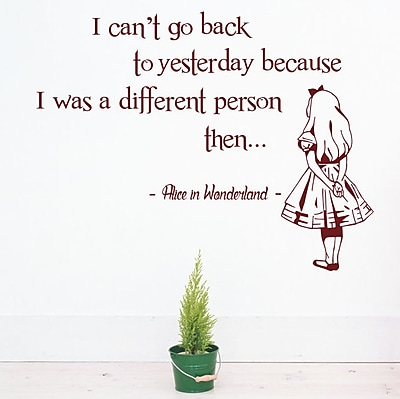 Decal House Alice in Wonderland Wall Decal; Burgundy