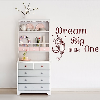 Decal House Dream Big Little One Wall Decal; Burgundy