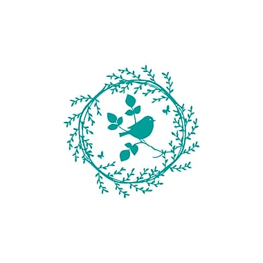 Decal House Bird on the Branch Wall Decal; Turquoise
