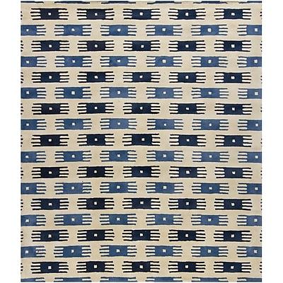 Loon Peak Herald Blue/White Area Rug; 2' x 3'