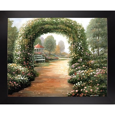 Charlton Home 'Archway' Graphic Art Print; Black Wood Large Framed Paper
