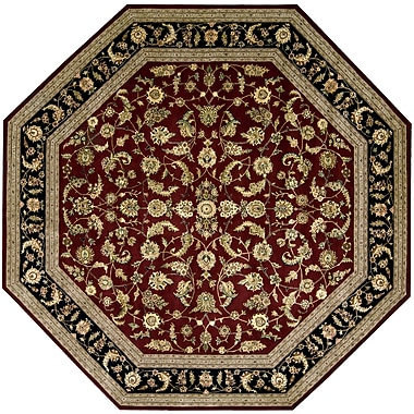 Darby Home Co Ellerswick Hand Woven Wool Red/Green Indoor Area Rug; Octagon 10'