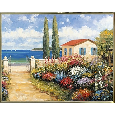 Highland Dunes 'Coastal Garden Walk' Graphic Art Print; Paper