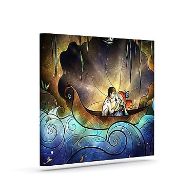 KESS InHouse 'Something About Her' Graphic Art Print on Canvas; 24'' H x 30'' W x 2'' D