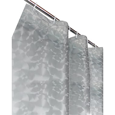Ebern Designs Bergenfield 3D Vinyl Shower Curtain; Silver