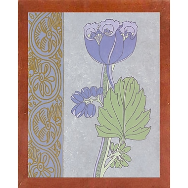 Ebern Designs 'Blue Tulip w/ Left Border' Graphic Art Print
