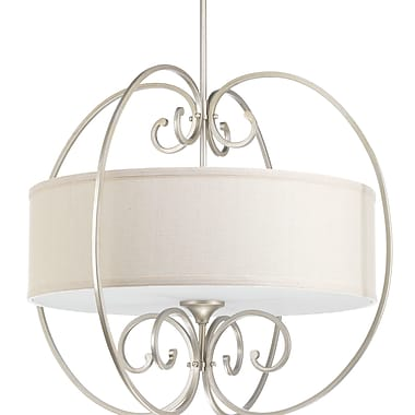 Darby Home Co Farragut 4-Light Drum Pendant; Silver Ridge