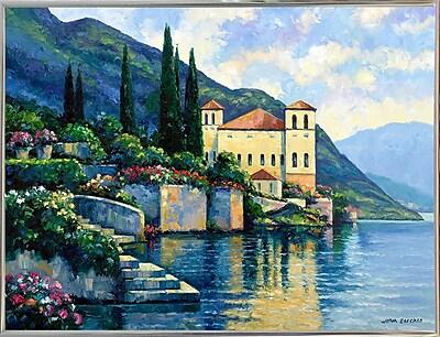 Fleur De Lis Living 'Reflections Of Lago Maggiore' Graphic Art Print; Silver Metal Framed