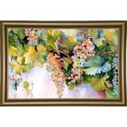 Fleur De Lis Living 'Grapes On The Vine' Print; Bistro Gold Framed Paper
