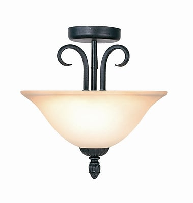 Fleur De Lis Living Williford 2-Light Semi-Flush Mount