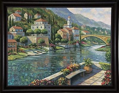 Fleur De Lis Living 'Italian Vista' Graphic Art Print; Bistro Expresso Framed Paper