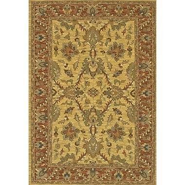 Alcott Hill Abell Yellow/Brown Area Rug; 2' x 3'