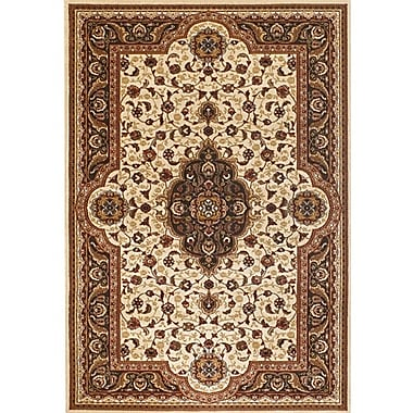 Astoria Grand Myricks Brown/Tan Oriental Area Rug; 5'3'' x 7'4''