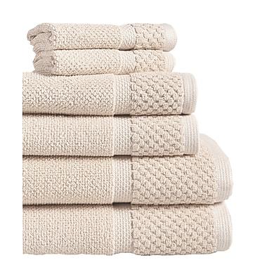 Gracie Oaks 6 Piece Towel Set; Creme