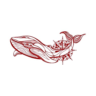 Decal House Whale Wall Decal; Purple Red