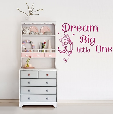 Decal House Dream Big Little One Wall Decal; Hot Pink