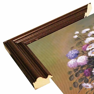 Ophelia & Co. 'Florals 1' Graphic Art Print; Cherry Wood Grande Framed Paper