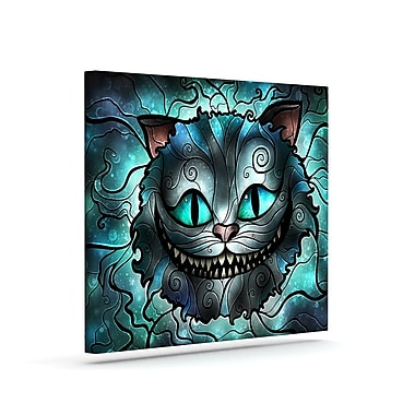 KESS InHouse 'Mad Chesire' Graphic Art Print on Canvas; 16'' H x 20'' W x 2'' D