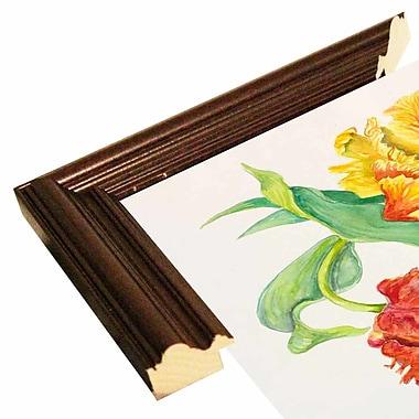 Winston Porter 'Twining Tulips' Print; Cherry Wood Grande Framed Paper