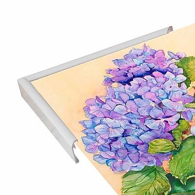 Winston Porter 'Easter Hydrangea' Print; White Metal Framed