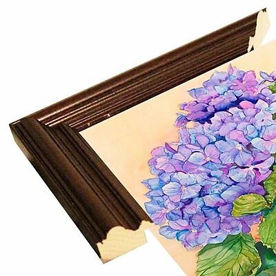 Winston Porter 'Easter Hydrangea' Print; Cherry Wood Grande Framed Paper