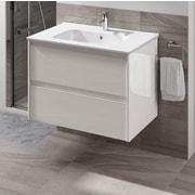 WS Bath Collections Ambra 32'' Single Bathroom Vanity Set; Gloss White