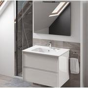 WS Bath Collections Ambra 24'' Single Bathroom Vanity Set w/ Mirror; Gloss White