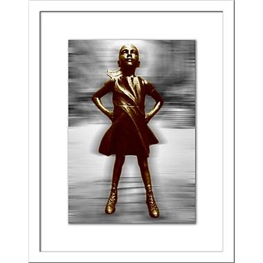 Novogratz 'Fearless Girl' Framed Graphic Art Print; 36'' H x 30'' W