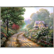 Charlton Home 'Lilac Morning' Graphic Art Print; Silver Metal Framed