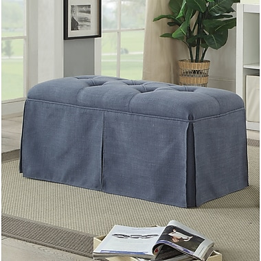 Alcott Hill Angustain Contemporary Bench; Blue