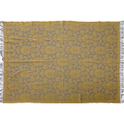 Bungalow Rose Mount Hope Damask Wool Throw; Yellow