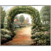 Charlton Home 'Archway' Graphic Art Print; Silver Metal Framed