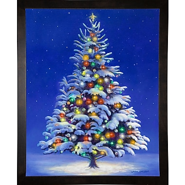 The Holiday Aisle 'Christmas Tree' Graphic Art Print; Cafe Espresso Wood Framed Paper