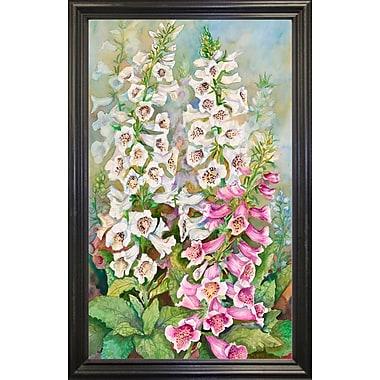 Winston Porter 'Foxglove Spears' Print; Black Wood Grande Framed Paper